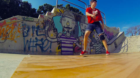 Urban Hip-hop Teenager dubstep dancer dancing breakdance... Stock Video Footage
