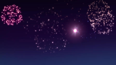 fireworks scene 002 Stock Video Footage