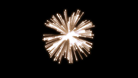 fireworks orange 001 Stock Video Footage
