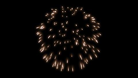 fireworks orange 001 Animation