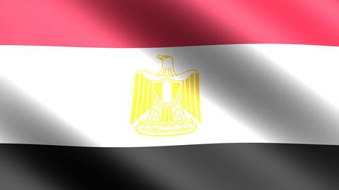 4K Flag Animation Egypt Stock Video Footage