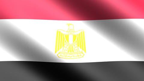 4K Flag Animation Egypt stock footage