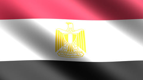 4K Flag Animation Egypt Stock Video Footage