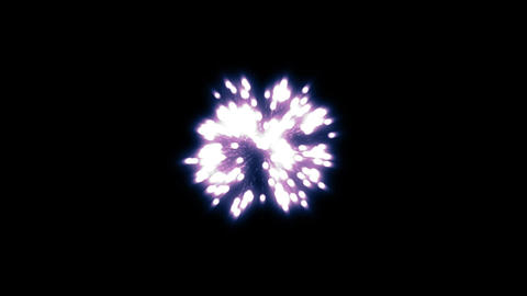 fireworks blue 001 Stock Video Footage