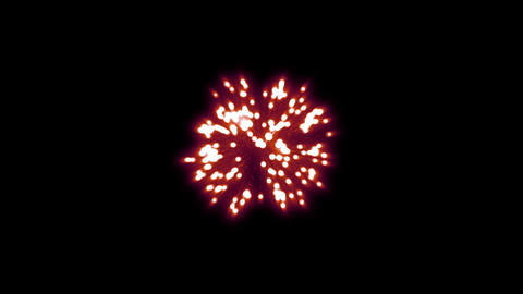 fireworks red 001 Animation