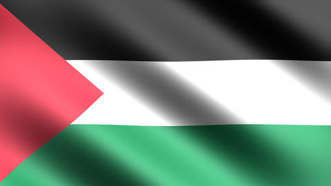 4K Flag Animation Palestine Stock Video Footage