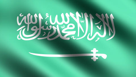4K Flag of Saudi Arabia Stock Video Footage
