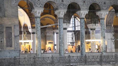 Aya Sofia interior Stock Video Footage
