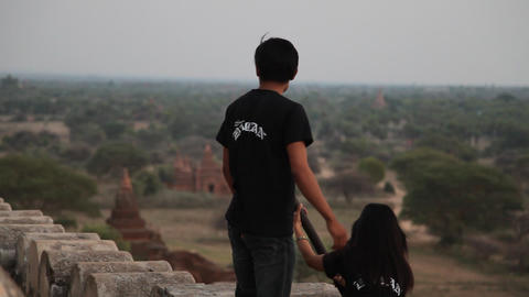 Bagan temple exterior Footage