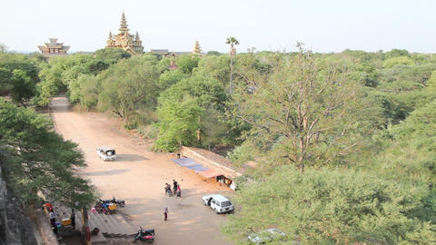 Bagan temples exterior Stock Video Footage