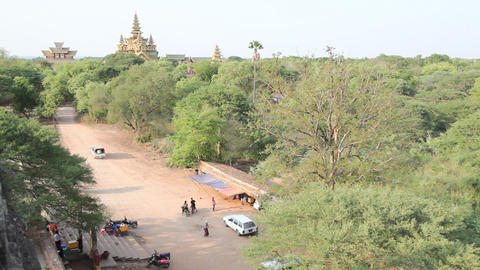 Bagan temples exterior Stock Video Footage