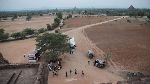 View from Bagan temple Stock Video Footage