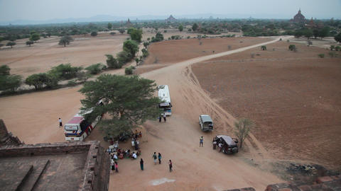 View from Bagan temple Footage