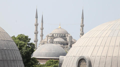 Dome of Blue mosque Stock Video Footage