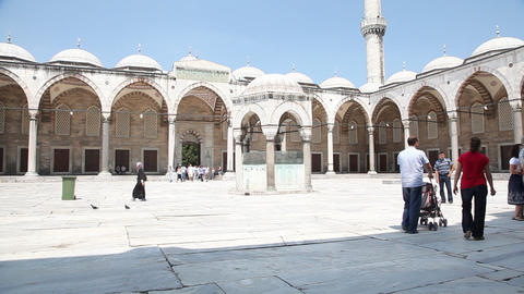 Blue mosque exterior Footage