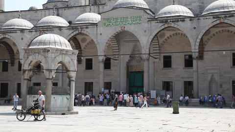 Blue mosque exterior Stock Video Footage