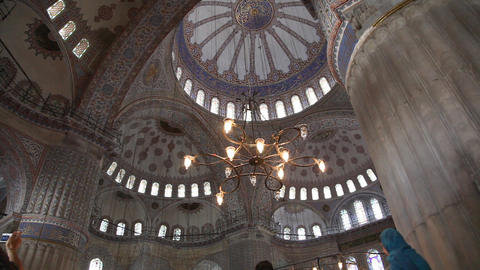 Blue mosque interior Stock Video Footage