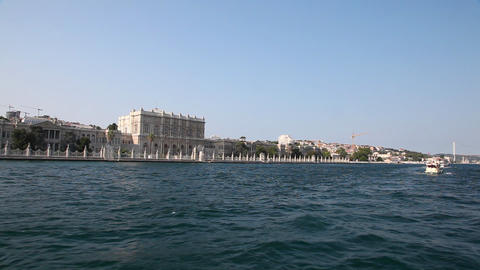 Travel along Dolmabahce Palace Footage