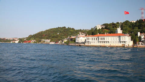 Travel along Bosphorus Footage