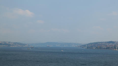 Bosporus timelapse Stock Video Footage