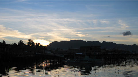Busuanga sunrise tl 01 Stock Video Footage