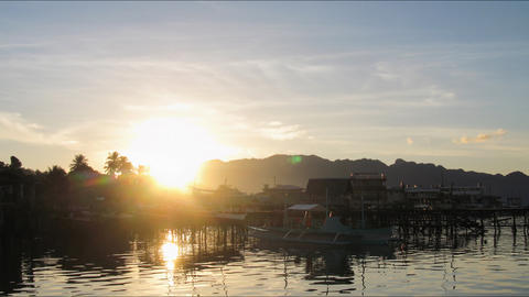 Busuanga sunrise tl 01 Stock Video Footage