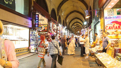 Egypt Bazaar Interior stock footage