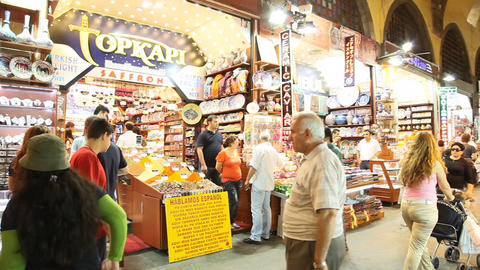 Egypt bazaar interior Stock Video Footage