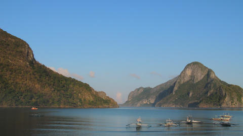 El Nido sunrise tl zoom out 02 Stock Video Footage