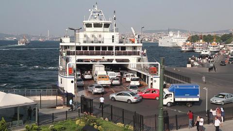 Ferry pier Stock Video Footage