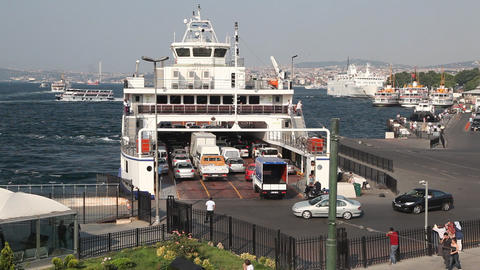 Ferry pier Stock Video Footage