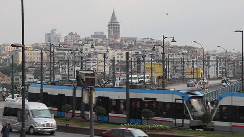 Galata bridge Stock Video Footage