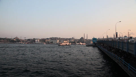 Galata bridge Stock Video Footage