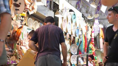 Grand bazaar folow focus Stock Video Footage