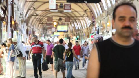 Grand bazaar interior Stock Video Footage