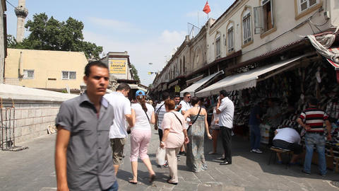 Shopping district at Grand bazaar Footage