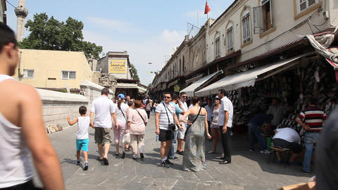 Shopping district at Grand bazaar Stock Video Footage