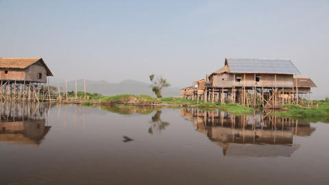 Boat on Inle lake , Myanmar Stock Video Footage