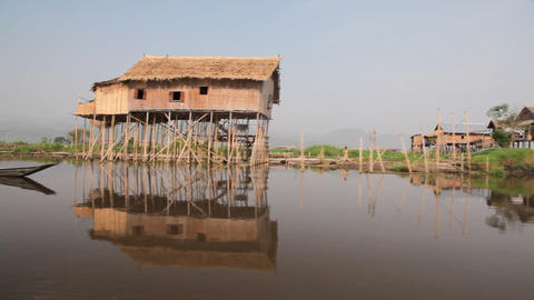 Boat on Inle lake , Myanmar Footage