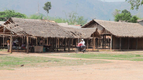 Indein village, Myanmar Stock Video Footage