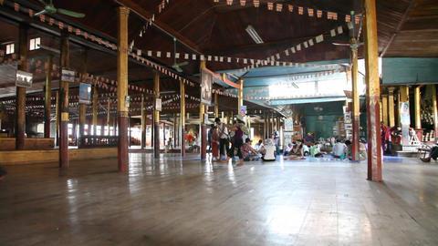 Visitors inside Nga Phe Kyaung Monastery Footage