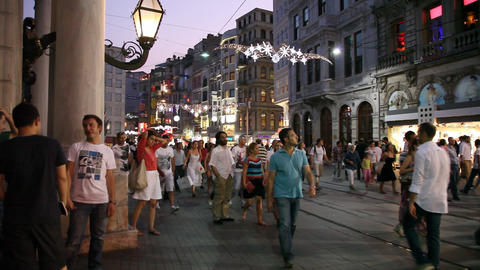Istiklal street Stock Video Footage