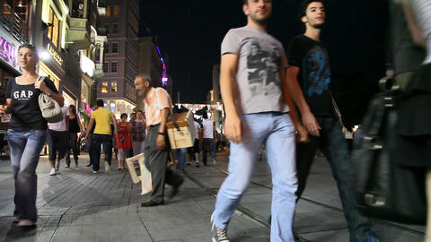 Istiklal street Stock Video Footage