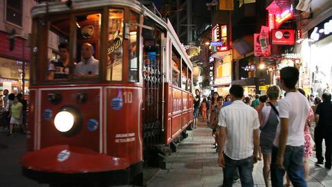 Istiklal street tram Footage