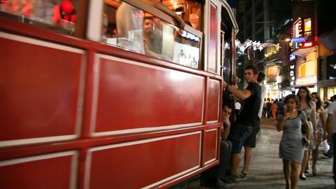 Istiklal street tram Stock Video Footage