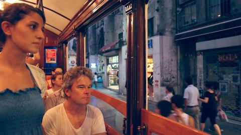 Tunnel - Taksim tram Stock Video Footage