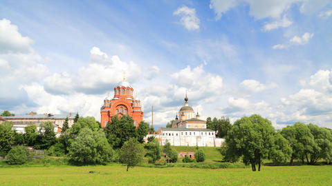 Pokrovsky Convent timelapse Stock Video Footage