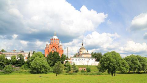 Pokrovsky Convent timelapse Stock Video Footage