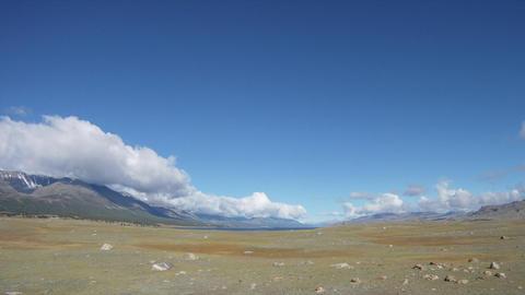 Timelapse Mountain lake Khoton Nuur in Mongolian Altai Stock Video Footage