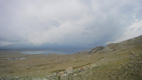 Timelapse Mountain lake Khoton Nuur in Mongolian Altai Footage